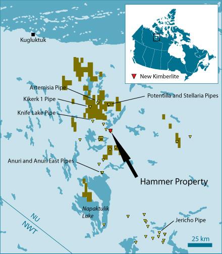 North Arrow On Map Of Canada.Stornoway Diamond Corporation Stornoway Reports Discovery Of