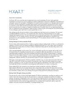 Hyatt Hotels Corporation - Investor Relations - Financial ...