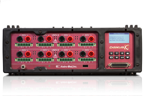 With Daxus from Astro-Med, real-time signals can be viewed on a PC in a scrolling wave form style, o ...